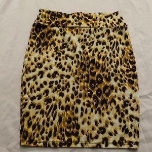 Lularoe Leopard Pencil Skirt